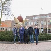 Nieuwe rotonde Vrijheidslaan/Oranjelaan.