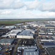 luchtfoto bedrijventerrein Nijkerk